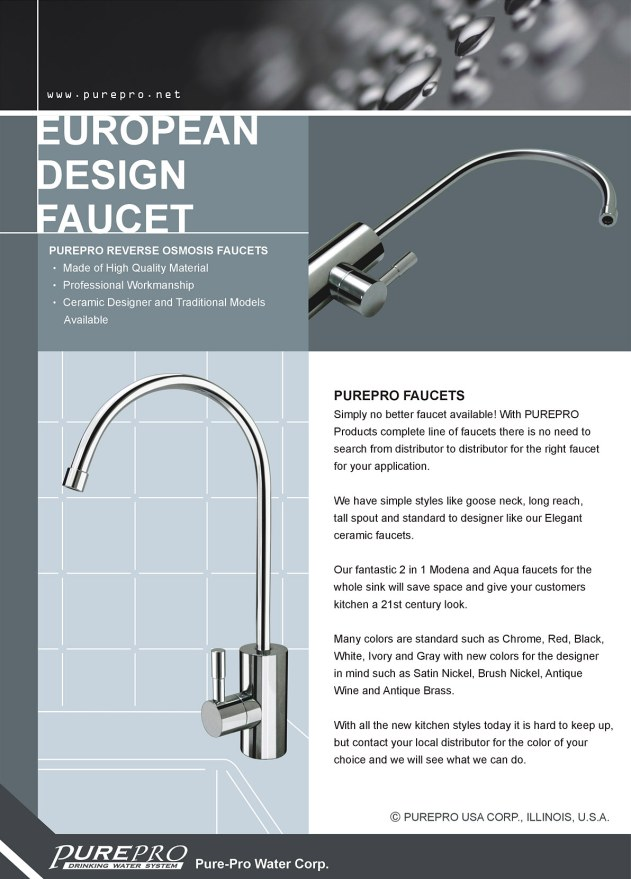 PurePro Reverse Osmosis Water Systems :: Faucets